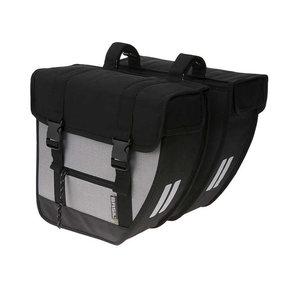 Basil Tour XL - dubbele fietstas - 40 liter - zwart/zilver