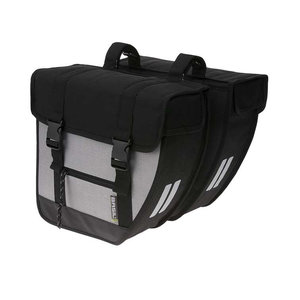Tour XL - double bicycle bag - black/silver