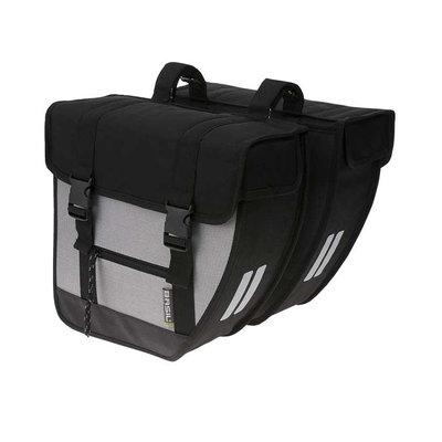 Basil Tour XL – doppelte Fahrradtasche – 40 Liter - schwarz/silber
