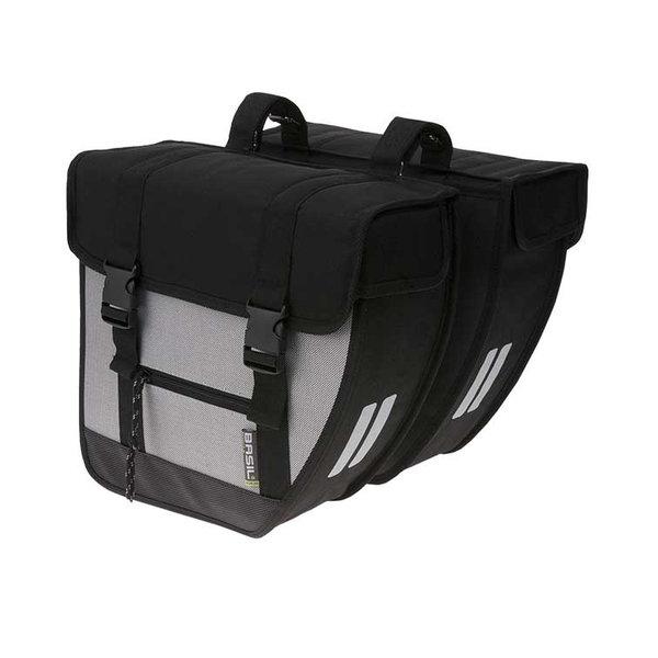 Tour XL - double bicycle bag - black/silver