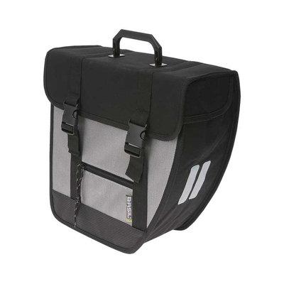 Basil Tour Right – single bicycle bag – 17 liter - black/silver
