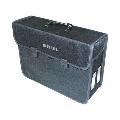 Basil Malaga XL – einfache Fahrradtasche – 17 Liter - schwarz