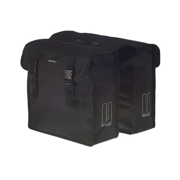 Mara XL - double bicycle bag - black