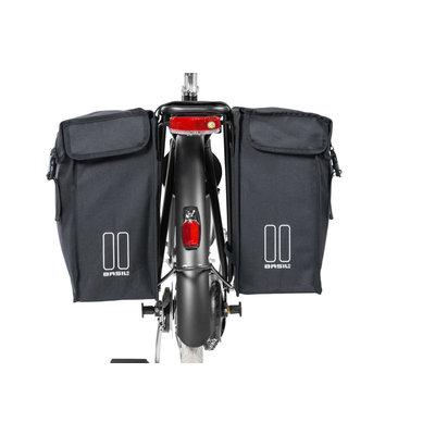 Basil Mara XXL - dubbele fietstas - 47 liter - zwart
