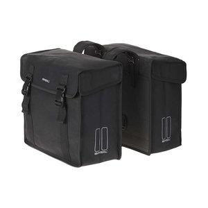 Basil Kavan - doppelte Fahrradtasche - 45 Liter-  schwarz