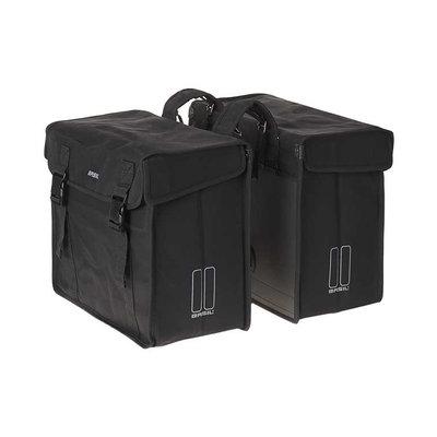 Basil Kavan XL - dubbele fietstas - 65 liter - zwart