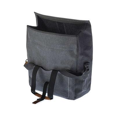 Basil Urban Dry - business fietstas - 20 liter - dark grey