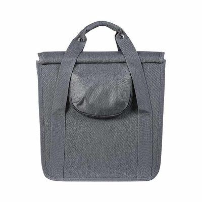 Basil GO - single bicycle bag - 16 liter - grey