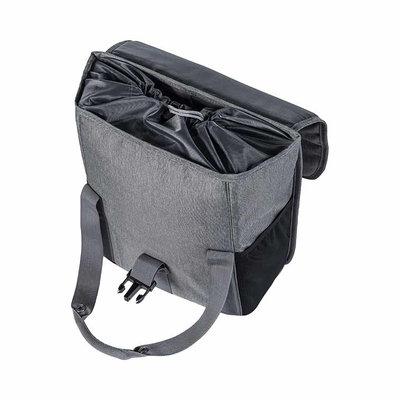 Basil GO – enkele fietstas – 16 liter - grijs
