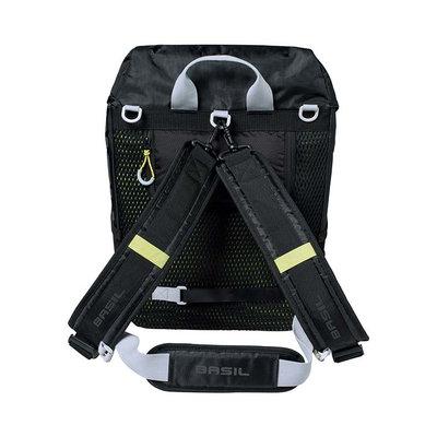Basil Miles - fietsrugzak - 17 liter - zwart
