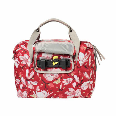 Basil Magnolia - single bicycle bag - 18 liter - poppy red