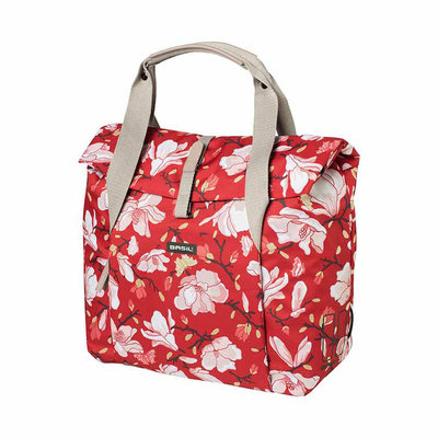 Basil Magnolia - bicycle shopper - 18 liter - poppy red