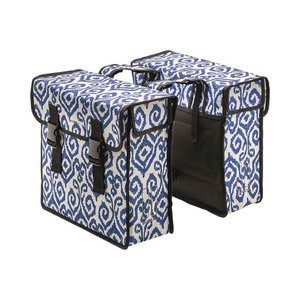 Mara XL - double bicycle bag - blue