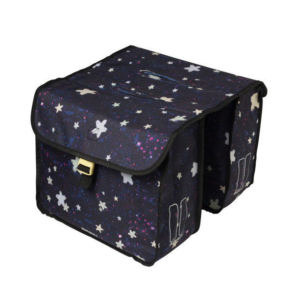 Stardust - double bicycle bag - blue