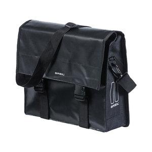 Basil Urban Load - enkele fietstas - 15-17 liter - zwart