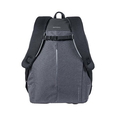 Basil B-Safe Nordlicht - bicycle backpack with LED-strip - 18 liter - black