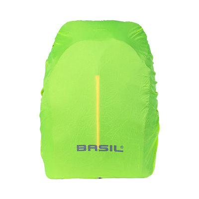 Basil B-Safe Nordlicht - Fahrradrucksack mit LED-Streifen - 18 Liter - schwarz