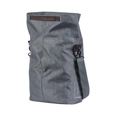 Basil City - fietsshopper - 14-16 liter - grijs