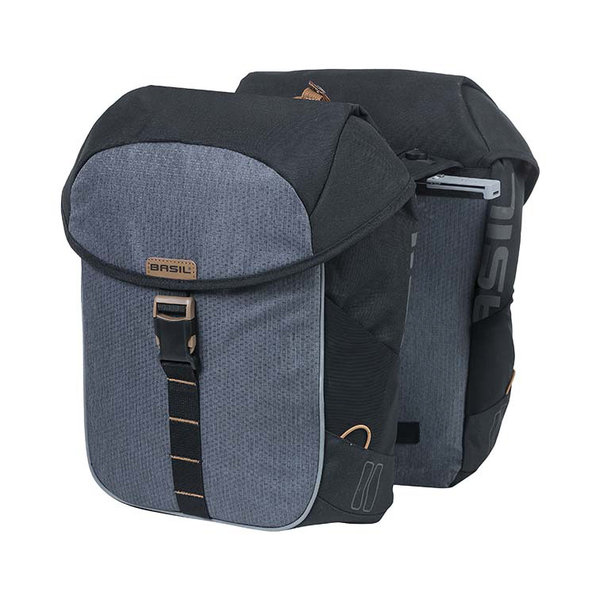 Miles - bicycle double bag MIK - grey