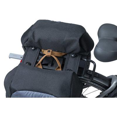 Basil Miles - dubbele fietstas MIK - 34 liter - grijs/zwart