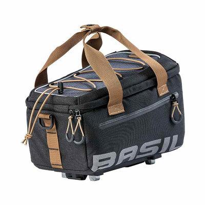 Basil Miles - bagagedragertas MIK - 7 liter - grijs/zwart