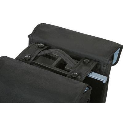 Basil GO MIK – doppelte Fahrradtasche – 32 Liter - schwarz