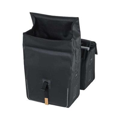Basil Urban Dry - Doppeltasche MIK – 50 Liter – schwarz