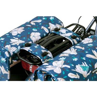 Basil Magnolia MIK – double bicycle bag – 35 liter - blue
