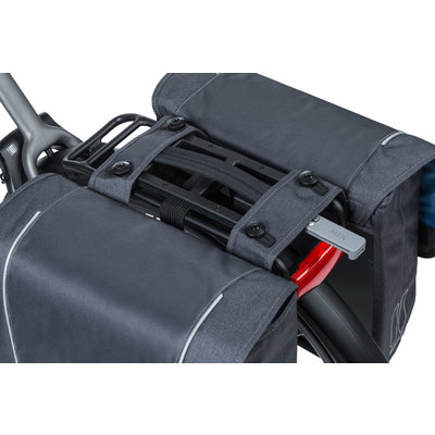 Basil Sport Design – doppelte Fahrradtasche – 32 Liter - grau