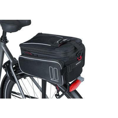 Basil Sport Design – Gepäckträgertasche MIK – 7-15 Liter - schwarz