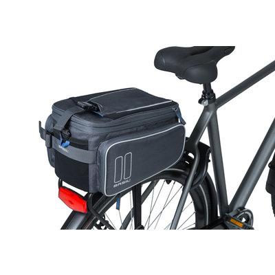 Basil Sport Design – Gepäckträgertasche MIK – 7-15 Liter - grau