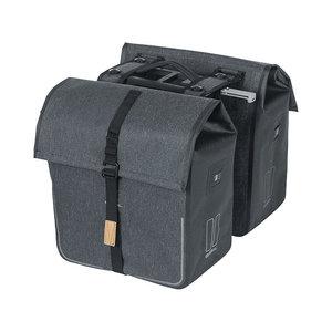Basil Urban Dry MIK - doppelte Fahrradtasche - 50 Liter - charcoal melee