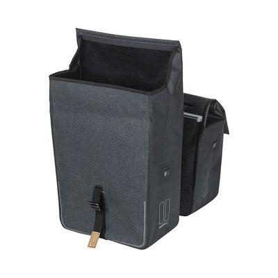 Basil Urban Dry MIK - double bicycle bag - 50 liter - charcoal melee