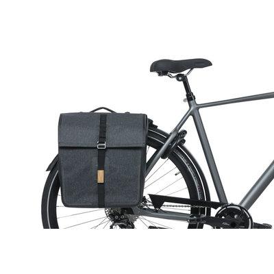 Basil Urban Dry MIK - dubbele fietstas - 50 liter - charcoal mêlée