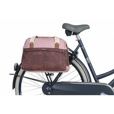Basil Boheme fietsschoudertas - enkele fietstas - 18 liter - rood