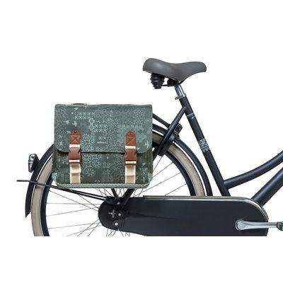 Basil Bohème - Doppelte Fahrradtasche - 35 Liter - grün