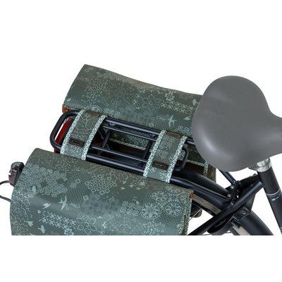 Basil Bohème - double bicycle bag - 35 liter - green