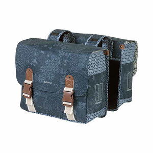 Basil Bohème - double bicycle bag - 35 liter - blue