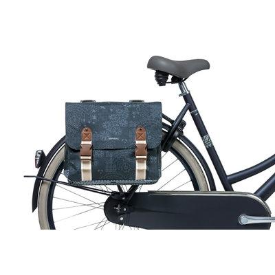 Basil Bohème -  doppelte Fahrradtasche - 35 Liter - blau