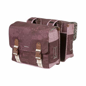 Basil Bohème - double bicycle bag - 35 liter - red