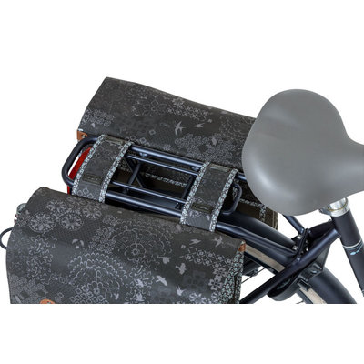Basil Bohème - double bicycle bag - 35 liter - charcoal