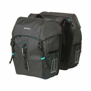 Basil Discovery 365D - double bicycle bag M - 18 liter - black melee