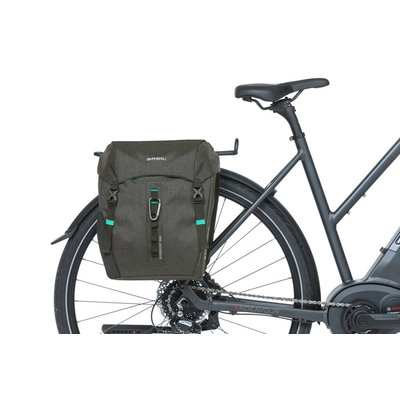 Basil Discovery 365D - dubbele fietstas M - 18 liter - zwart melee