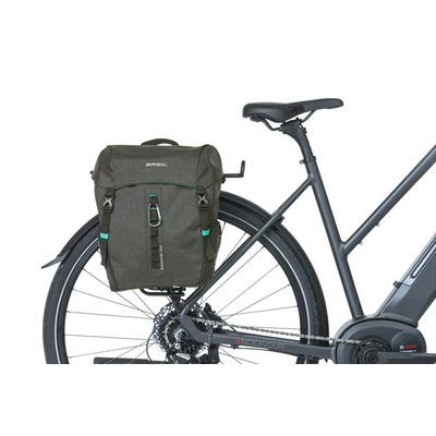Basil Discovery 365D - single bicycle bag M - 9 liter - black melee