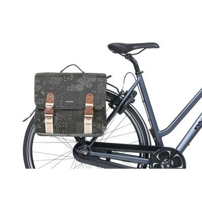 Basil Bohème MIK - doppelte Fahrradtasche - 35 Liter - schwarz