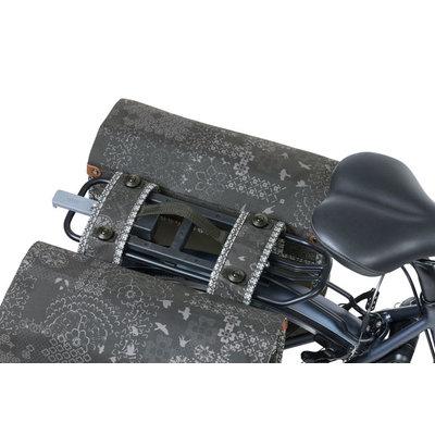 Basil Bohème MIK - dubbele fietstas - 35 liter - zwart