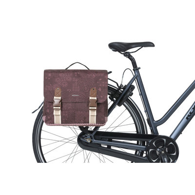 Basil Bohème MIK - double bicycle bag - 35 liter - red
