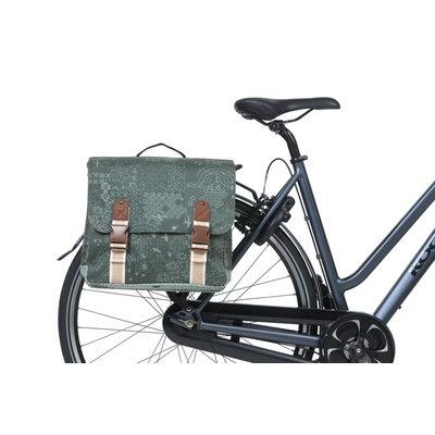 Basil Bohème MIK - double bicycle bag - 50 liter - green
