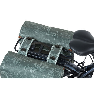 Basil Bohème MIK - doppelte Fahrradtasche - 50 Liter - grün