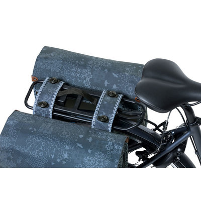 Basil Bohème MIK - double bicycle bag - 35 liter - blue